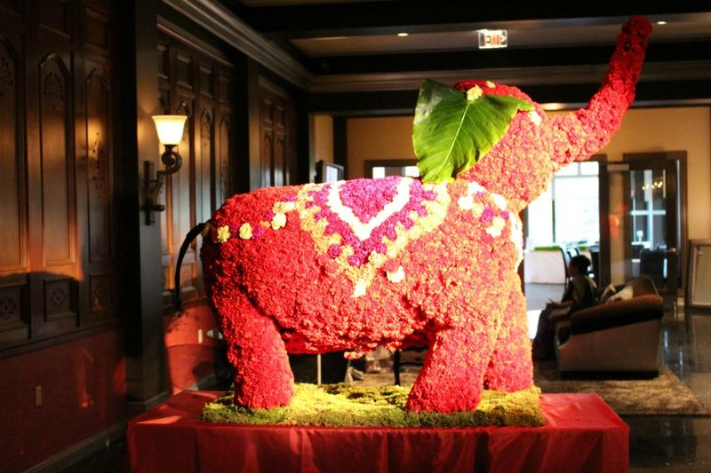Flower Elephant for Indian Wedding by blank Slate events floral designer nyc florist