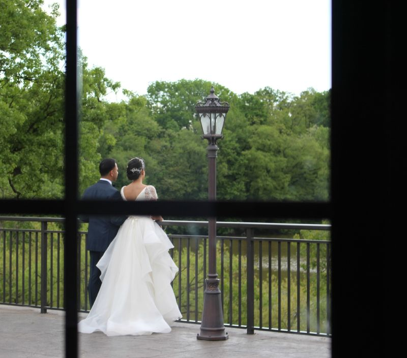 The bride and the groom sharing a moment alone photo by blank slate events