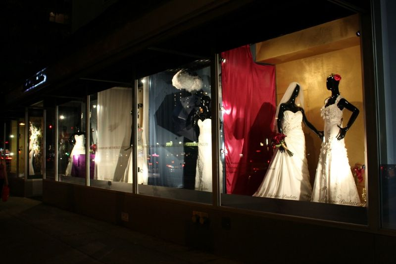 Window Dresser NYC by Blank Slate Events Floral and Event Design Madame Paulette Couture Dry Cleaner
